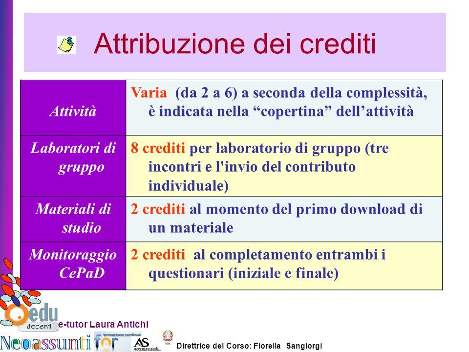 Attribuzione dei crediti