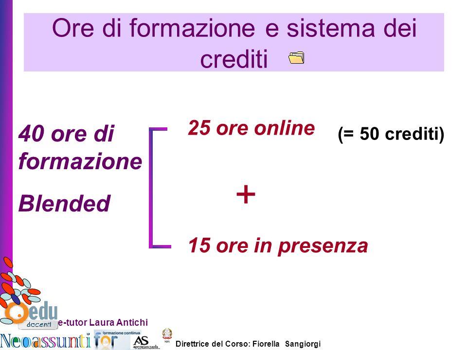 Ore di formazione e sistema dei crediti