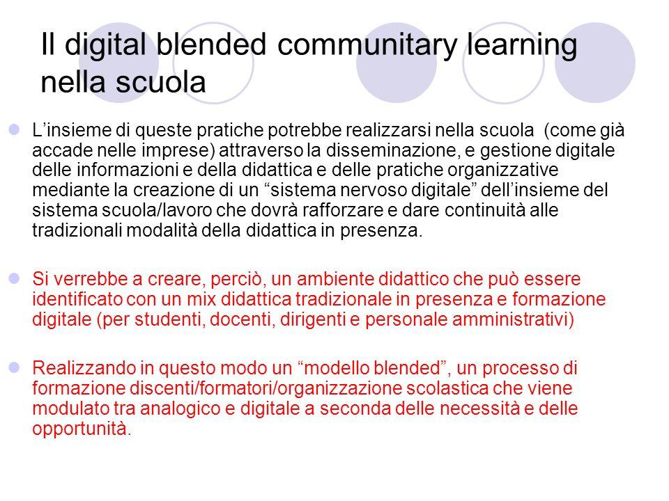 Il digital blended communitary learning nella scuola