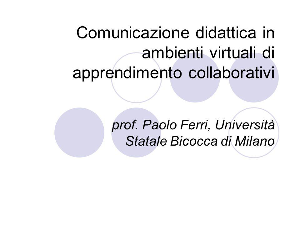 prof. Paolo Ferri, Università Statale Bicocca di Milano