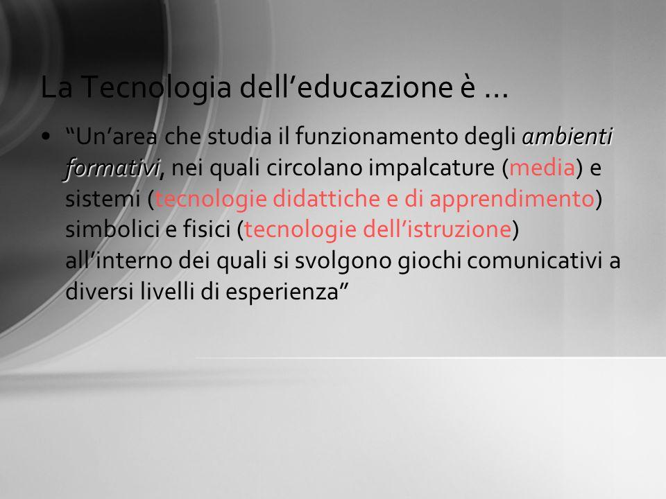 La Tecnologia dell'educazione è …