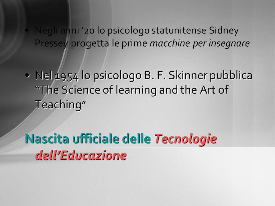 Nascita ufficiale delle Tecnologie dell'Educazione