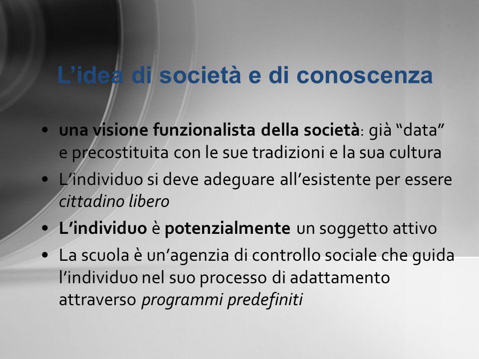 L'idea di società e di conoscenza
