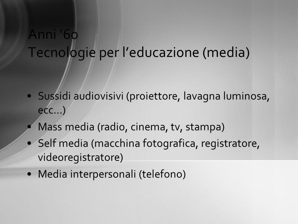 Anni '60 Tecnologie per l'educazione (media)