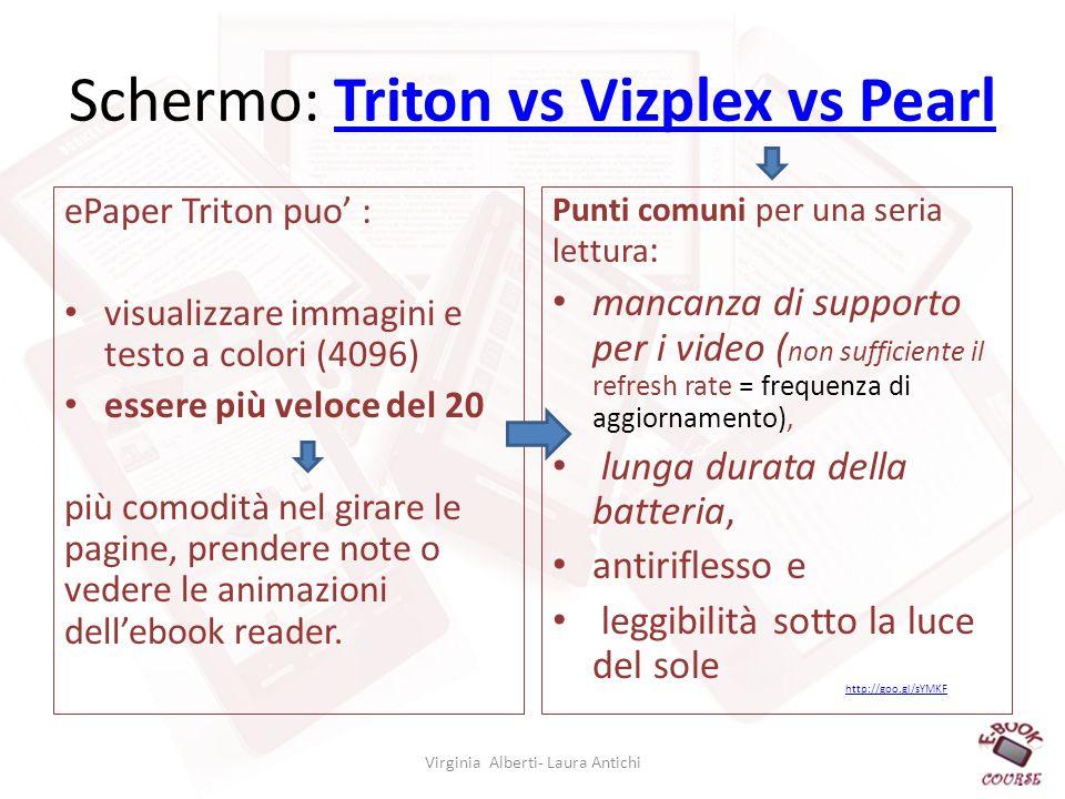 Schermo: Triton vs Vizplex vs Pearl