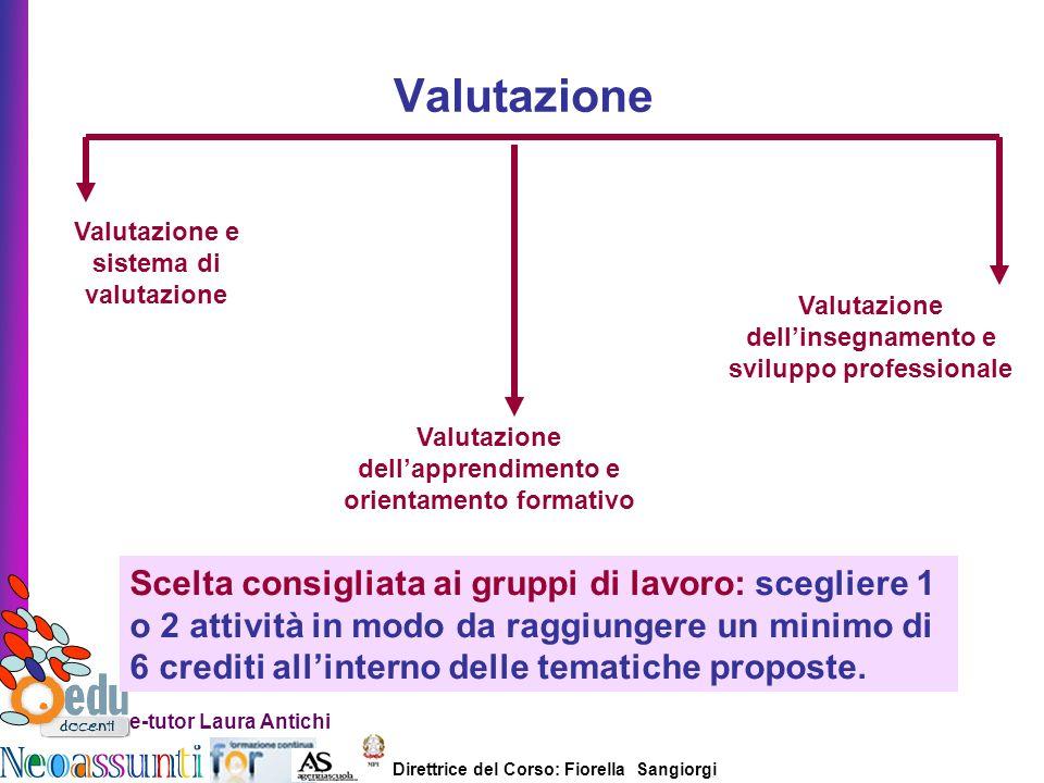 Valutazione Valutazione e sistema di valutazione. Valutazione dell'insegnamento e sviluppo professionale.