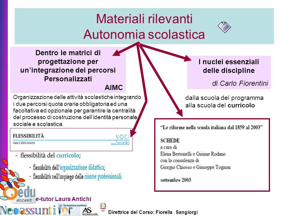 Materiali rilevanti Autonomia scolastica