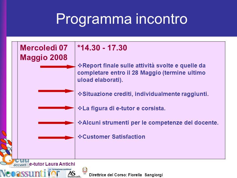 Programma incontro Mercoledì 07 Maggio 2008 *14.30 - 17.30