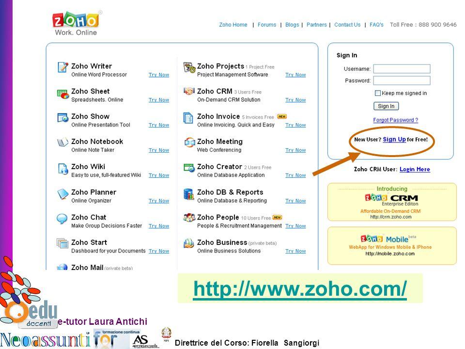 http://www.zoho.com/ e-tutor Laura Antichi