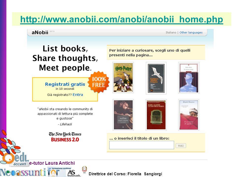 http://www.anobii.com/anobi/anobii_home.php e-tutor Laura Antichi