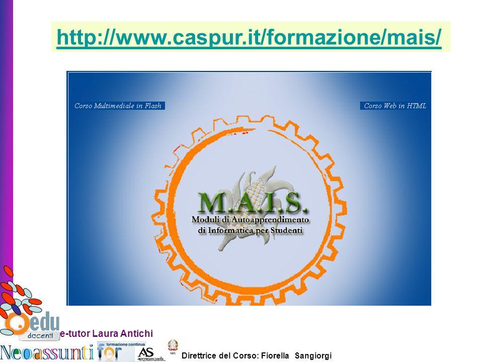 http://www.caspur.it/formazione/mais/ e-tutor Laura Antichi