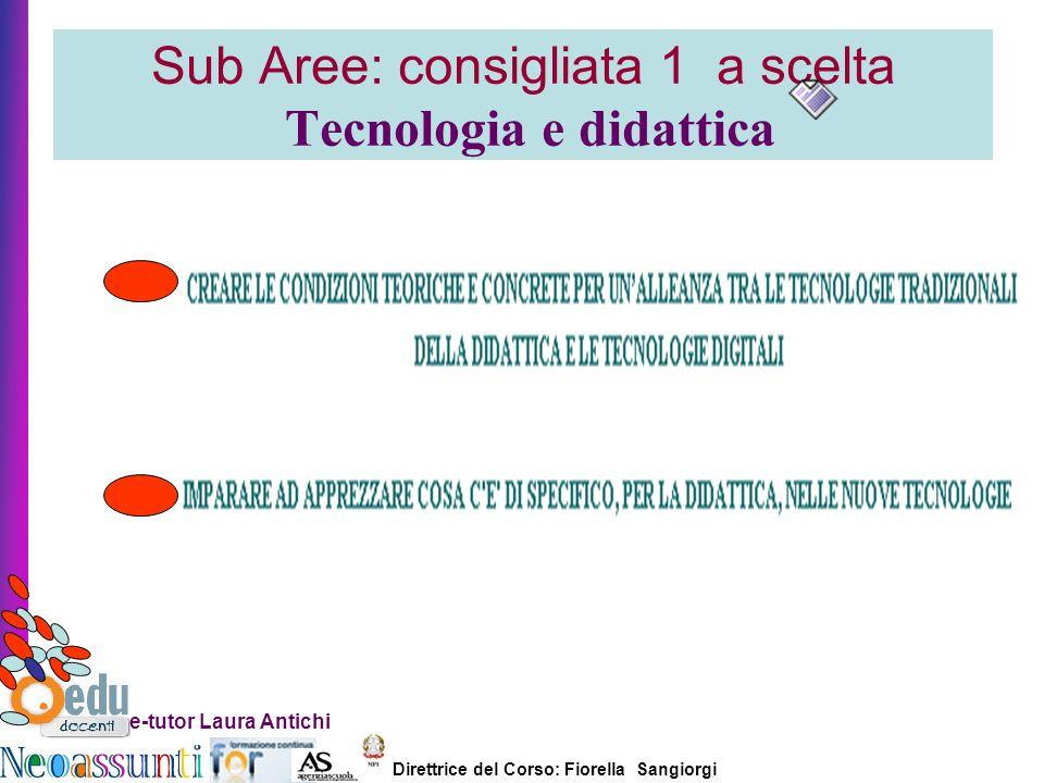 Sub Aree: consigliata 1 a scelta Tecnologia e didattica