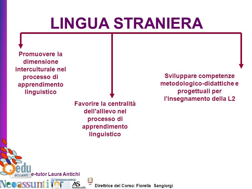 LINGUA STRANIERA Promuovere la dimensione interculturale nel processo di apprendimento linguistico.