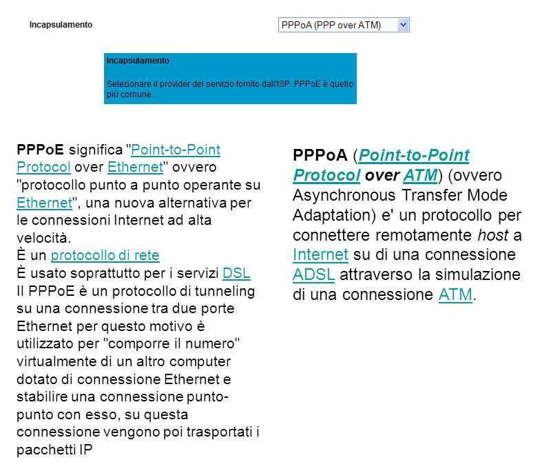 PPPoE significa Point-to-Point Protocol over Ethernet ovvero protocollo punto a punto operante su Ethernet , una nuova alternativa per le connessioni Internet ad alta velocità.