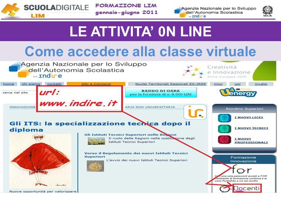 Come accedere alla classe virtuale