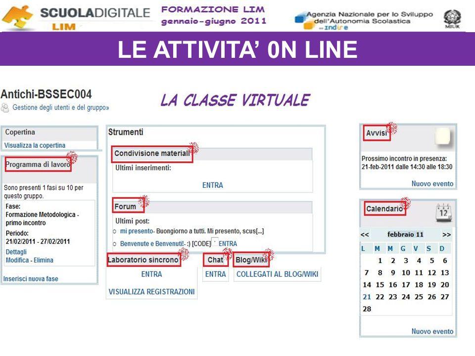 LE ATTIVITA' 0N LINE