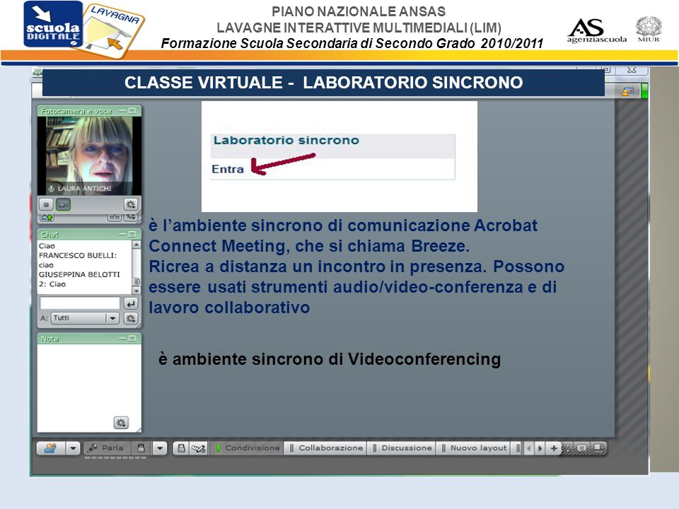 CLASSE VIRTUALE - LABORATORIO SINCRONO