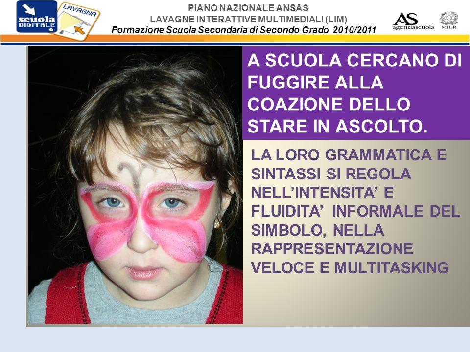 A SCUOLA CERCANO DI FUGGIRE ALLA COAZIONE DELLO STARE IN ASCOLTO.