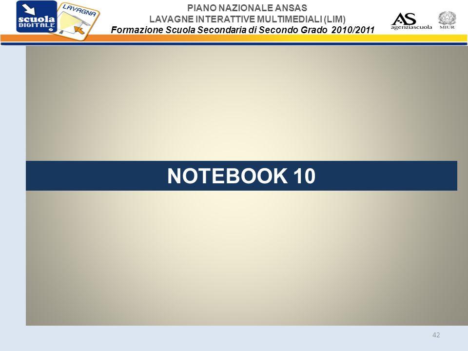 NOTEBOOK 10