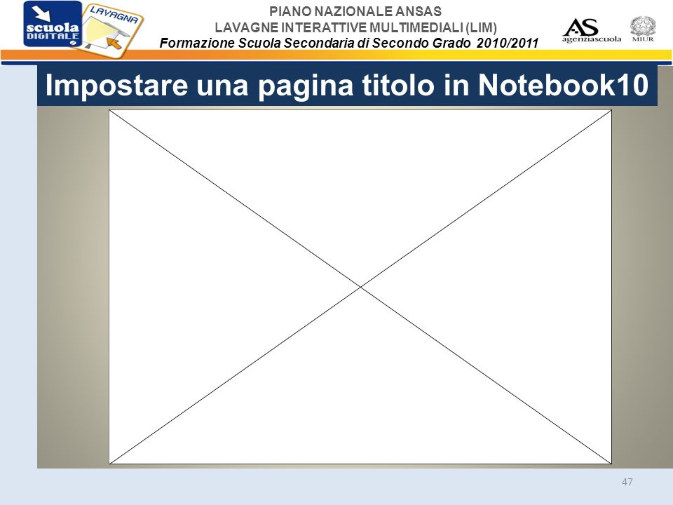 Impostare una pagina titolo in Notebook10