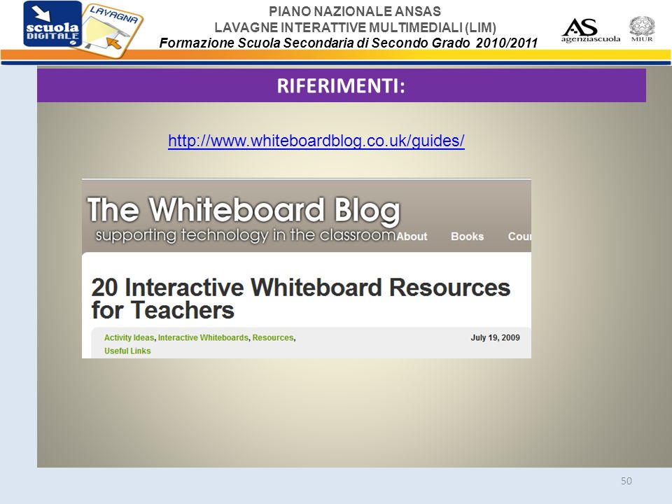 RIFERIMENTI: http://www.whiteboardblog.co.uk/guides/