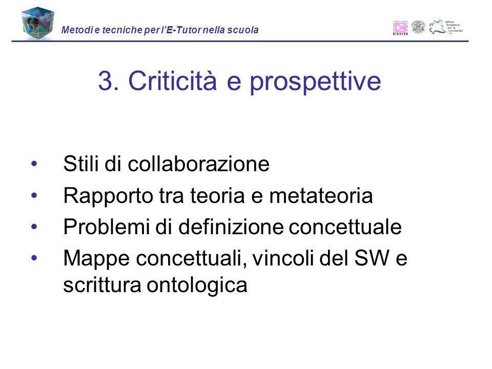3. Criticità e prospettive