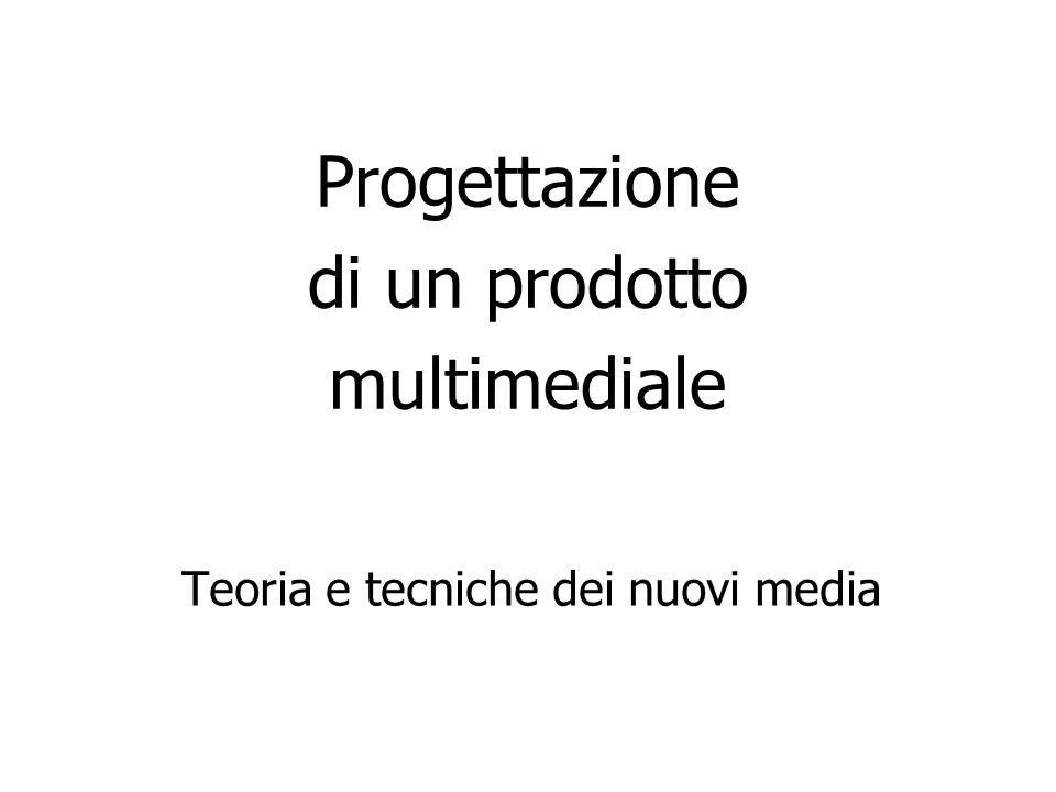 Progettazione di un prodotto multimediale