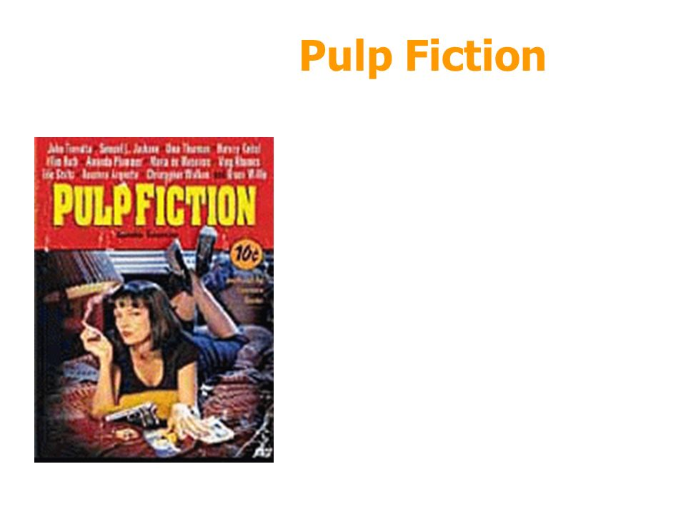 27/03/2017 Pulp Fiction Ordine degli episodi 4 3 5 2 6 1 7