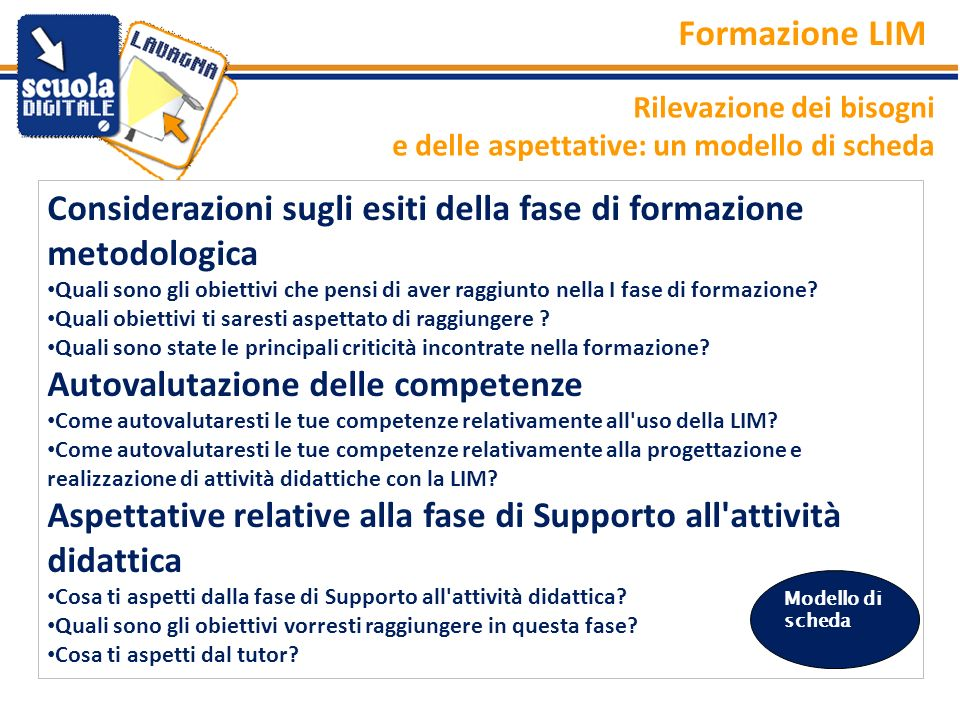 Considerazioni sugli esiti della fase di formazione metodologica