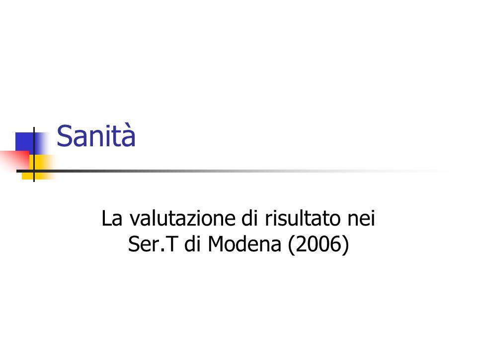 La valutazione di risultato nei Ser.T di Modena (2006)