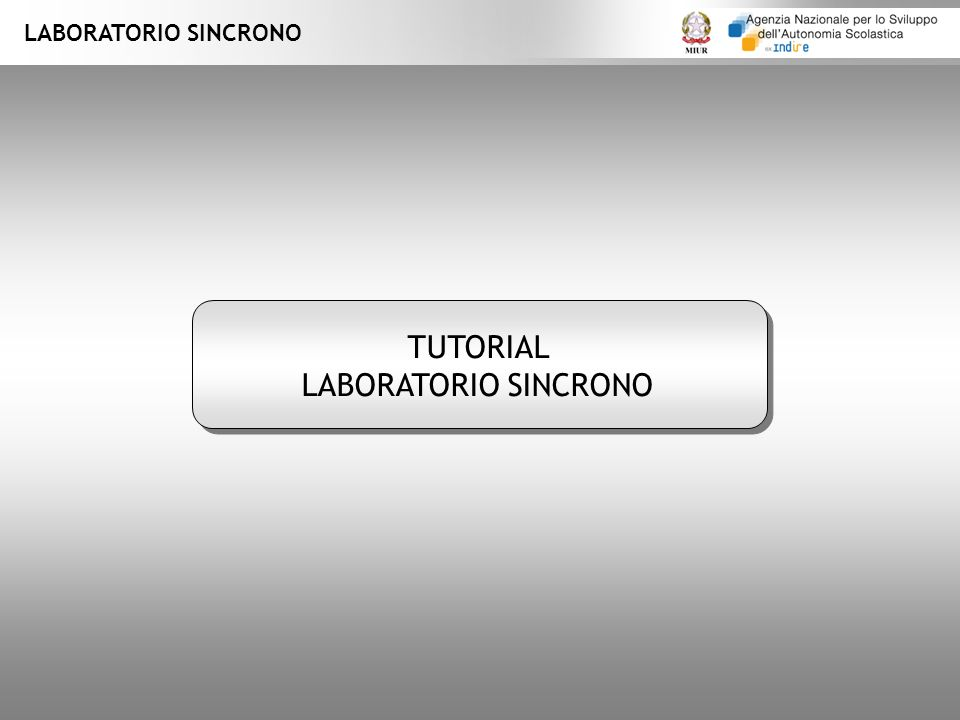 LABORATORIO SINCRONO TUTORIAL LABORATORIO SINCRONO