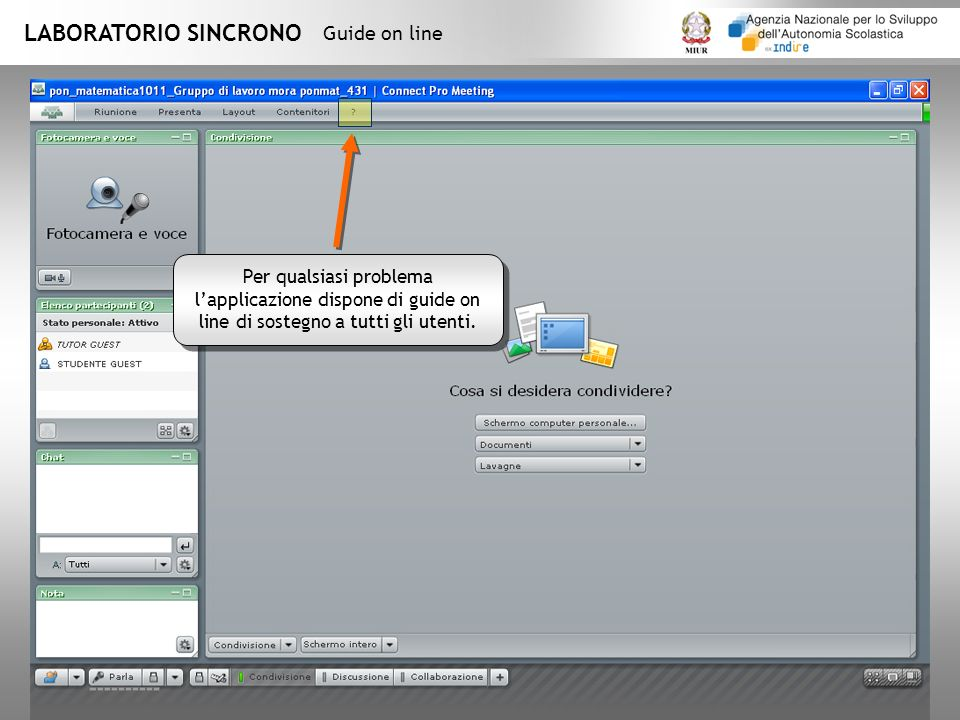 LABORATORIO SINCRONO Guide on line