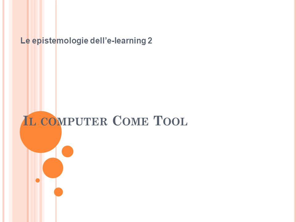 Le epistemologie dell'e-learning 2