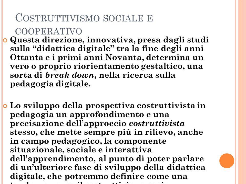 Costruttivismo sociale e cooperativo