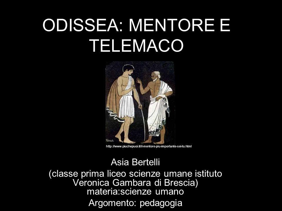 ODISSEA: MENTORE E TELEMACO