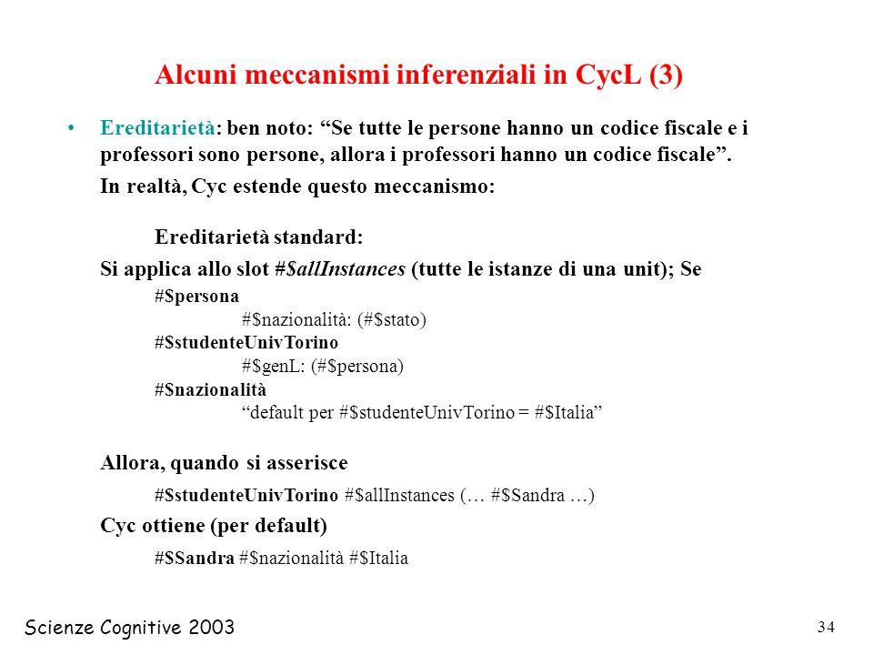 Alcuni meccanismi inferenziali in CycL (3)