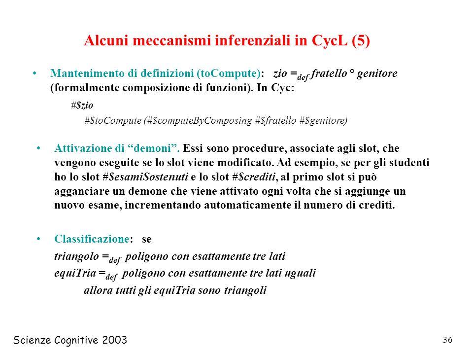 Alcuni meccanismi inferenziali in CycL (5)