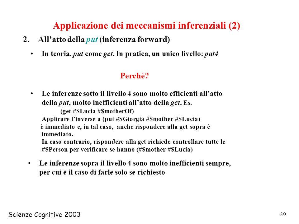 Applicazione dei meccanismi inferenziali (2)