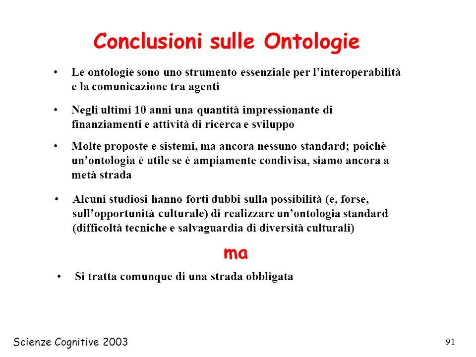 Conclusioni sulle Ontologie