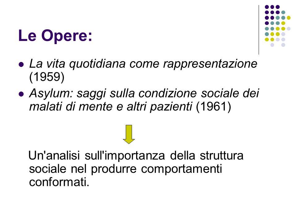 Le Opere: La vita quotidiana come rappresentazione (1959)