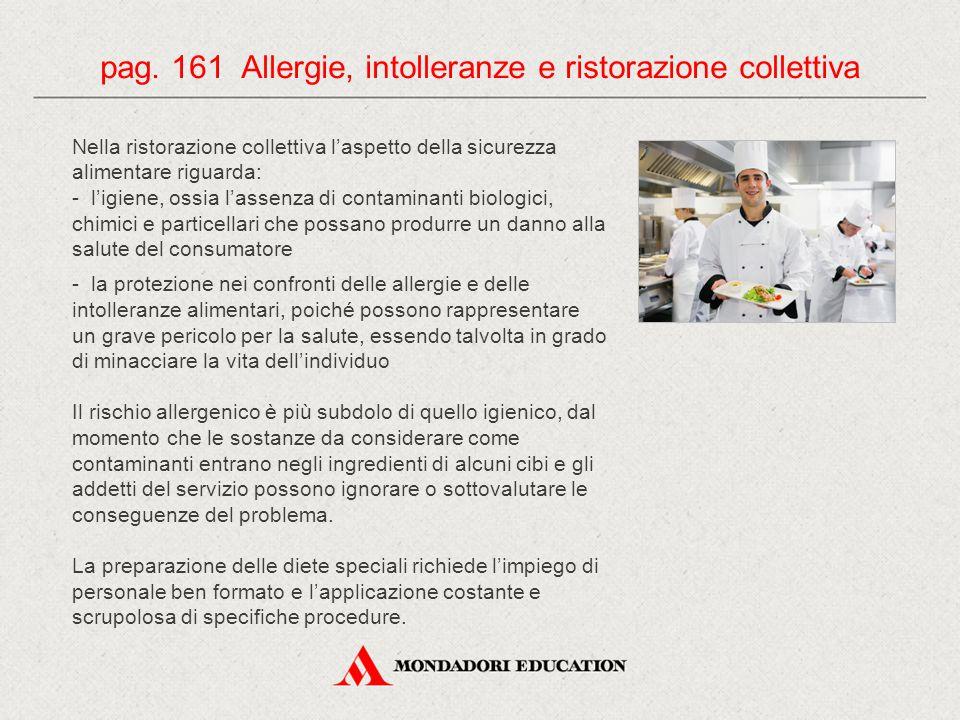 pag. 161 Allergie, intolleranze e ristorazione collettiva