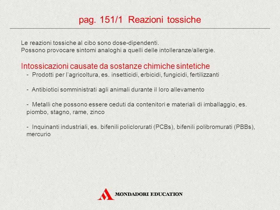 pag. 151/1 Reazioni tossiche