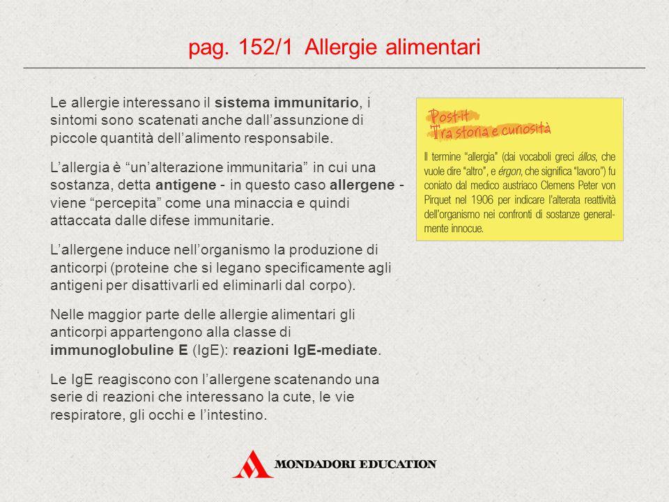 pag. 152/1 Allergie alimentari