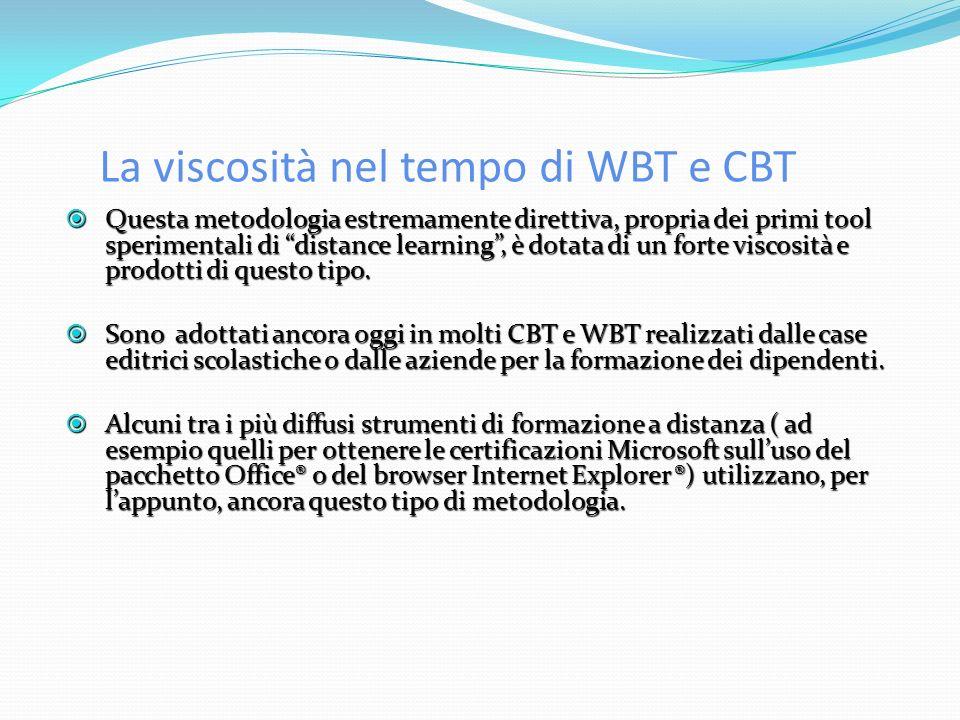 La viscosità nel tempo di WBT e CBT