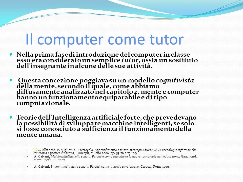 Il computer come tutor