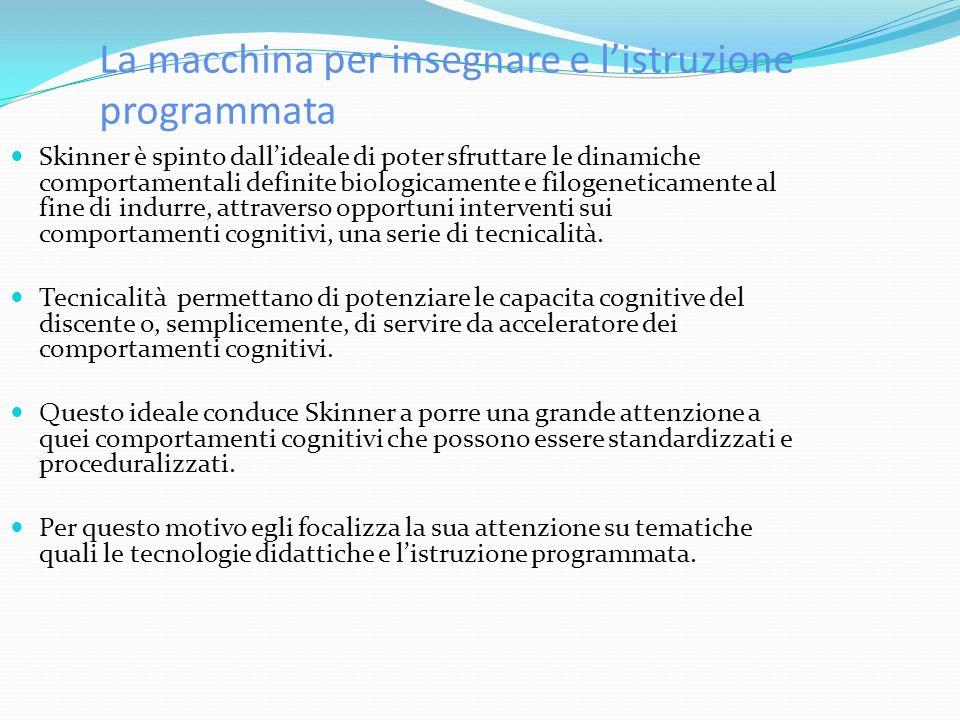 La macchina per insegnare e l'istruzione programmata