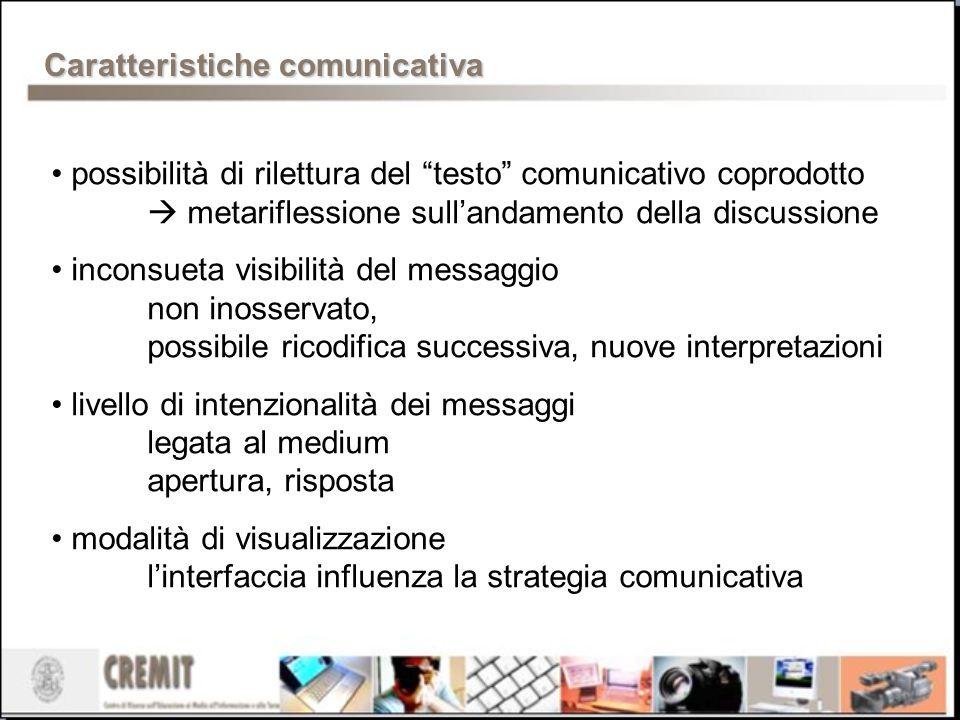 Caratteristiche comunicativa