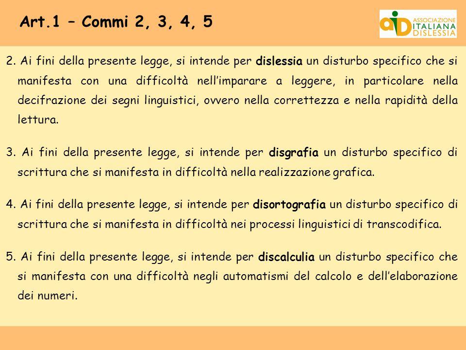 Art.1 – Commi 2, 3, 4, 5