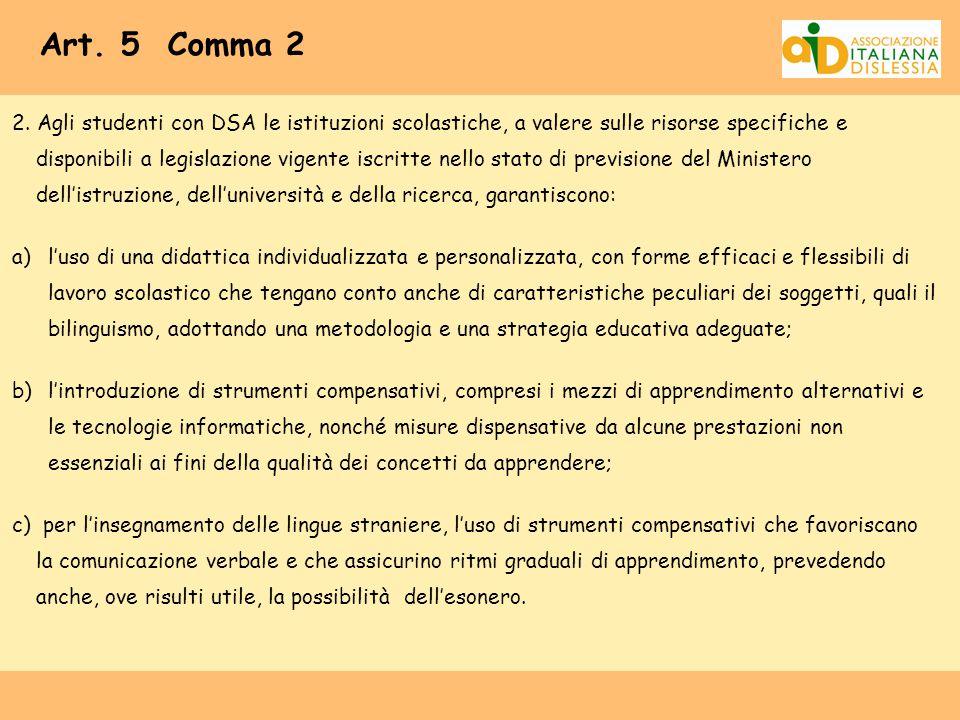 Art. 5 Comma 2