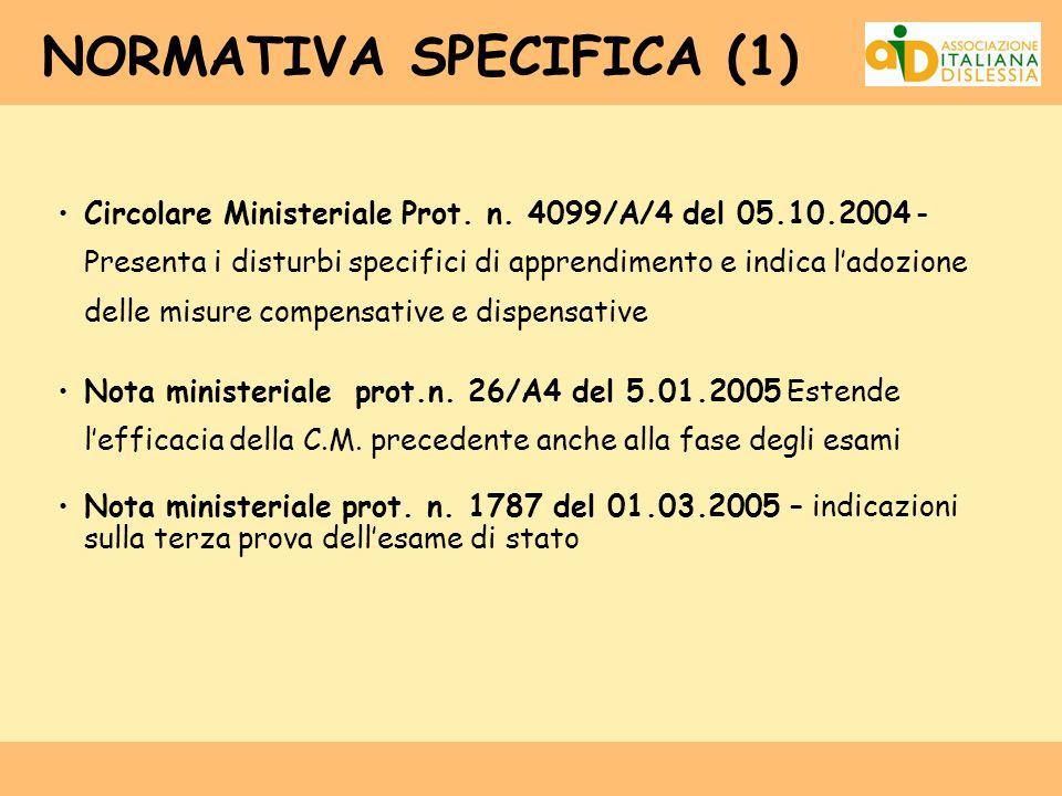 NORMATIVA SPECIFICA (1)